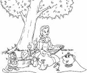 Coloring pages The beauty binds a book