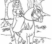 Coloring pages The beauty walking