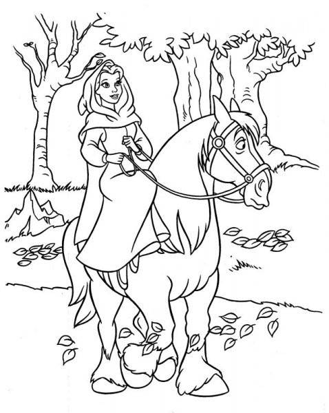 Free coloring and drawings The beauty walking Coloring page