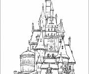 Coloring pages The Castle of Beauty and the Beast
