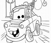 Free coloring and drawings Cartoon car Coloring page
