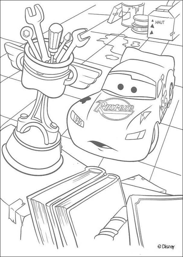 Free coloring and drawings Flash admires his trophy Coloring page