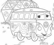 Free coloring and drawings Relay the Flash Mcqueen Coloring page