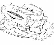 Free coloring and drawings Skier cars Coloring page