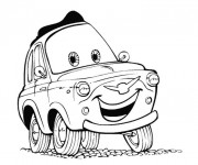 Free coloring and drawings Cars Andrea Coloring page