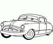 Free coloring and drawings Cars Disney Doc Hudson Hornet Coloring page
