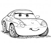 Coloring pages Cars Disney Sally Carrera
