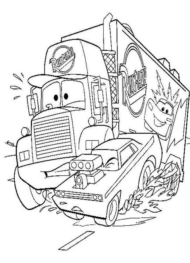 Free coloring and drawings Cars drawings Coloring page
