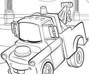 Free coloring and drawings Cars Martin tug Coloring page