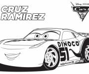 Coloring pages Cars with Cruz Ramirez