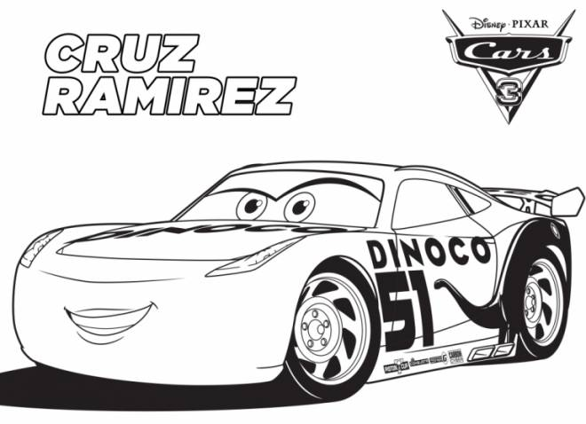 Free coloring and drawings Cars with Cruz Ramirez Coloring page
