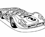 Free coloring and drawings Sports car Coloring page