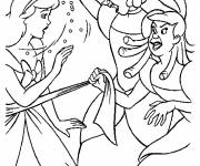 Coloring pages Anastasie and Javotte quarrel with Cinderella