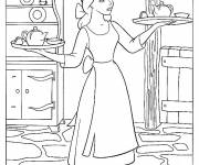 Coloring pages Cinderella cleaning