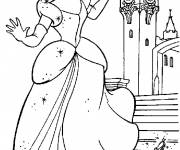 Coloring pages Cinderella drops her shoes