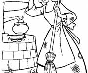 Coloring pages Cinderella household slavery