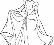 Coloring pages Cinderella in evening dress