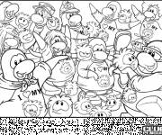 Coloring pages Club Penguin colored