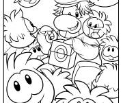 Coloring pages Club Penguin Coloring Sheet