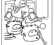 Coloring pages Club Penguin
