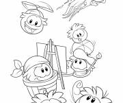 Coloring pages Club Penguin to decorate