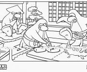 Coloring pages Funny club penguin