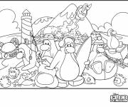 Coloring pages Humorous Penguin Club