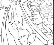 Coloring pages Penguins have fun