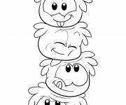 Coloring pages The laughing Penguins