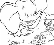 Coloring pages Dumbo and Timothee