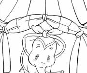 Coloring pages Dumbo is sad