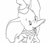 Coloring pages Dumbo smiles