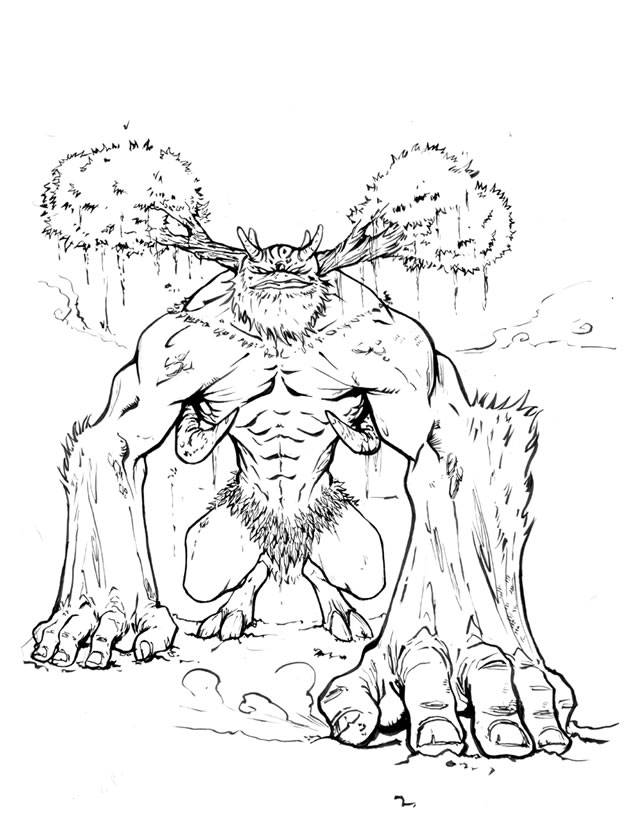 Free coloring and drawings A monster in Hercules Coloring page