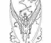 Coloring pages Hercules and his horse
