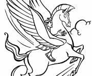 Coloring pages Hercules and Pegace