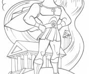 Coloring pages Hercules in front of the temple