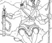 Coloring pages Hercules prepares for a fight