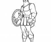 Coloring pages Hercules with his armor