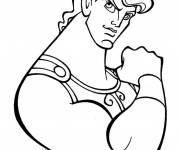 Coloring pages Hercules with its giant muscles