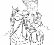 Coloring pages Eugene and Maximus