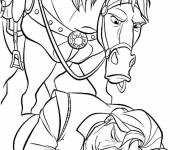 Coloring pages Maximus awakens Eugene