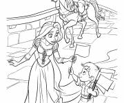 Coloring pages Maximus with Rapunzel