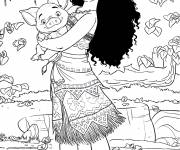 Coloring pages Moana
