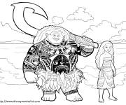 Coloring pages Moana and Maui disney