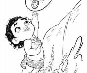 Coloring pages Moana is wonderful