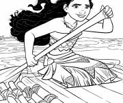 Coloring pages Moana the explorer