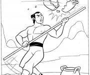 Coloring pages General Shang