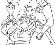 Coloring pages General Shang trains soldiers