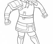 Coloring pages Mulan wears armor