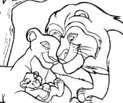Coloring pages Nala's family